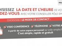 Pôle Emploi : Choisissez la date et l'heure de votre RDV