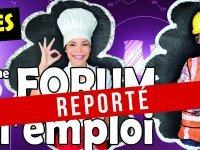 Forum de l'emploi : reporté