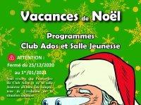 Vacances de Noël : Inscriptions Club Ados - Salle Jeunesse